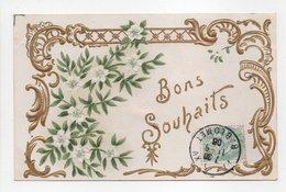 - CPA FLEURS / RELIEF - Bons Souhaits - - Flores