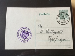 GÄ32343VIII Württemberg Ganzsache Stationery Entier Postal DP 43Ib/08 Von Rottweil Gericht - Wuerttemberg