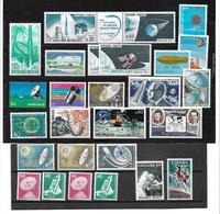 6010o: Motiv Weltraum/ Raumfahrt ** Westeuropa Frankreich, Monaco, Belgien, CH, Etc, Lot, Versand In Pergamintüte - Sammlungen