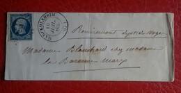 LETTRE DE MARCKOLSHEIM PC 1872 + GROS CACHET TYPE 13 - 1853-1860 Napoleon III