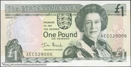TWN - JERSEY 26b - 1 Pound 2000 Prefix AEC - Signature: Black UNC - Jersey