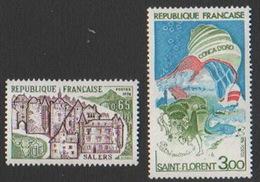 France Neuf Sans Charnière 1974 Série Touristique Complète Ville  Salers Golfe De Saint-Florent Corse YT 1793 1794 - Francia