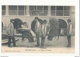 71 BOURBON LANCY LA CHAISE AU PORTEUR CPA BON ETAT - Autres Communes