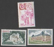 France Neuf Sans Charnière 1976 Série Touristique Complète Ville  Ussel Château Fort YT 1871 1872 1873 - Francia