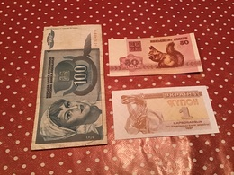LOT DE 3 BILLETS Voir Le Scan - Monnaies & Billets