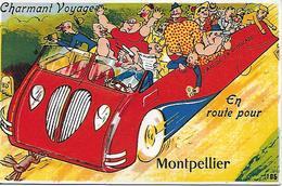 MONTPELLIER -  CARTE A SYSTEME- CHARMANT VOYAGE EN ROUTE POUR MONTPELLIER - A Systèmes