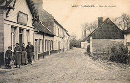 D80  DREUIL HAMEL Rue Du Hamel  ....... Avec Café Charcuterie   ..............  Carte Peu Courante - Other Municipalities