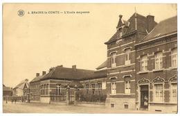 1920 BRAINE-LE-COMTE L'Ecole Moyenne Des Filles_rue De Mons 1920 Timbre 5c_Vintage_F WALSCHAERTS_CPA TB_Belgique>Hainaut - Braine-le-Comte