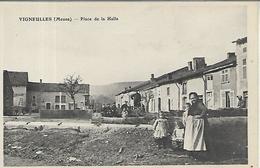 55, Meuse, VIGNEULLES, Place De La Halle, Scan Recto Verso - Vigneulles Les Hattonchatel