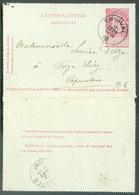 Carte-Lettre 10c. Fine Barbe Obl; Sc ENSIVAL Du 10 Sept. 1900 Vers Pépinster - 15286 - Postbladen