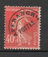 Préoblitéré N° 64 - Type Semeuse Camée 40c Vermillon - Préoblitérés