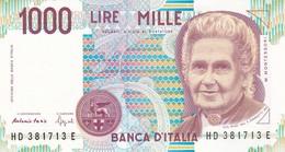 ITALIA BANCONOTA DA LIRE 1000  MONTESSORI  SERIE HD 381713 E   FDS - [ 2] 1946-… : Repubblica