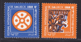 LIBAN AERIENS N°  540 & 541 ** MNH Neufs Sans Charnière, TB (D9329) Festival De Baalbeck - 1971 - Libanon