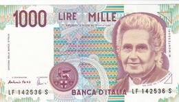 ITALIA BANCONOTA DA LIRE 1000  MONTESSORI  SERIE LF 142536 S   FDS - [ 2] 1946-… : Repubblica