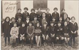 """CP Photo De Classe """"Ecole P.L.M De La Cîté Migennes"""" 1928  Circulée - Migennes"""