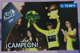Cyclisme : Egan Bernal , Vainqueur Du Tour De France 2019 - Cycling