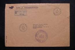 POLYNÉSIE - Enveloppe Des PTT En Recommandé De Papeete Pour La France En 1965 - L 56042 - Briefe U. Dokumente