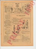 3 Scans Presse 1890 Humour Où Sont Passées Les Pommes De Terre ?? Armée Caserne Récit De Georges Brandimbourg 229CH1 - Alte Papiere