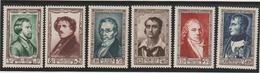 1951 N°891/896 Neuf ** Superbes - France