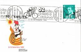 36109. Tarjeta BARCELONA  1982. Rodillo 62 Volta Ciclista Catalunya. Ciclismo - 1931-Today: 2nd Rep - ... Juan Carlos I