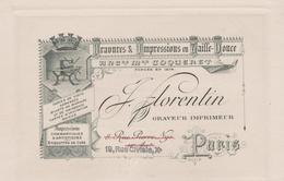75 10ème J FLORENTIN GRAVEUR IMPRIMEUR 19 RUE CIVIALE - Arrondissement: 10