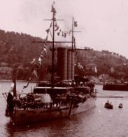 VILLEFRANCHE SUR MER  C.1900 Photo - Navire De Guerre - Places
