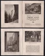 SUISSE - SCHWEIZ - LAUTERBRUNNEN - BERNER OBERLAND / HOTEL RESTAURANT DEPLIANT PUBLICITAIRE ANCIEN (ref 3847) - Dépliants Touristiques