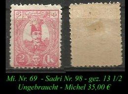 1889 - Mi. Nr. 69 - Sadri Nr. 98 - Ungebraucht - Iran