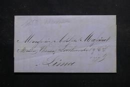CHILI - Lettre De Valparaiso Pour Lima En 1853 - L 56061 - Chili