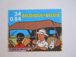 België Belgique 2001 Kuifje In Afrika Tintin Au Congo Hergé Timbre 3049 Du Bloc BL93 Yv 88 MNH ** - Belgien