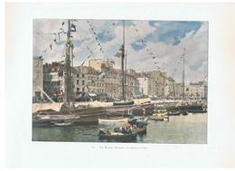 Aquarelle LE HAVRE Bassins Un Jour De Fête L. Boulanger Editeur Parisdes Années 1920 - Prenten & Gravure
