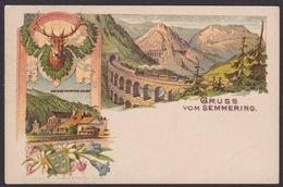 AK / Litho / Semmering / Gasthaus Erzherzog Johann / Viadukt   ...  ( F 49  ) - Semmering
