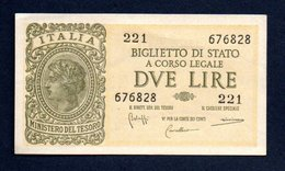 Banconota 2 Lire Italia Laureata 23 -11-1944 SPL - [ 1] …-1946 : Royaume