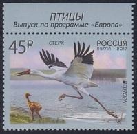 RUSSIA 2019 Stamp MNH ** VF EUROPA CEPT Sterkh Grus Leucogeran WHITE CRANE Siberia GRUE KRANICH BIRD VOGEL OISEAU 2436 - 1992-.... Federation