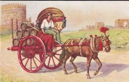 ROMA, CARRO DA VINO (COSTUMI ROMANI). ITALIE CARTE POSTALE CIRCA 1920's NON CIRCULEE -LILHU - Transports