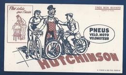 BUVARD - ILLUSTRÉ - PNEUS HUTCHINSON POUR VÉLO ET MOTO - Motos & Bicicletas