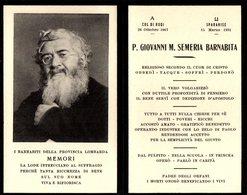 LUTTINO: P. GIOVANNI M. SEMERIA Barnabita - M. A Sparanise Nel 1931 - Religion & Esotérisme