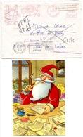 Père-Noël De La Poste - Enveloppe Et Carte 1993 - Voir Scan - Correos & Carteros