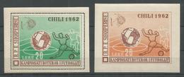 ALBANIA - MNH - Sport - Soccer - Chili 1962 - Perf. + Imperf. - Fútbol