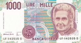 ITALIA BANCONOTA DA LIRE 1000  MONTESSORI  SERIE LF 142535 S   FDS - [ 2] 1946-… : Repubblica
