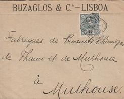 Portugal Lettre Pour L'Alsace 1900 - 1910 : D.Manuel II