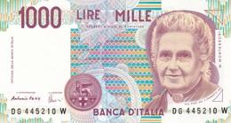 ITALIA BANCONOTA DA LIRE 1000  MONTESSORI  SERIE  DG 445210 W  FDS - [ 2] 1946-… : Repubblica