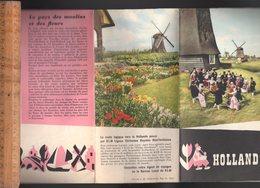 Dépliant Touristique Toursit Folder : HOLLAND  / 9 Sheet Making An Illustrated Map - Reiseprospekte