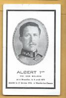 C.P.A. Albert 1er Roi Des Belges - Décédé En 1934 - Belgium
