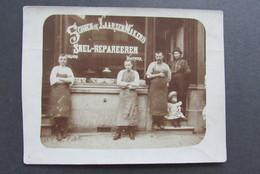 Carte Postale Schoen En Laarzenmakerij Snel Repareren Ambacht Foto - Artisanat