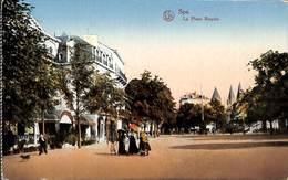 Spa - La Place Royale (animée, Colorisée, Lux, Feldpost) - Spa
