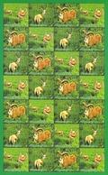Turkmenistan 2008 Fauna Ram Gazelle Sheet Of 28v  MNH - Timbres