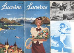 Dépliant Touristique Tourist Folder : LUCERNE LUZERN Lac Des Quatre Cantons Suisse 10 Pages 1938 - Reiseprospekte