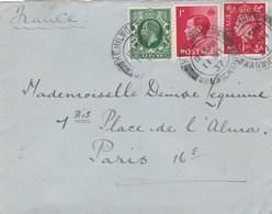 Grande Bretagne Lettre 1937 3 Timbres - 1902-1951 (Rois)