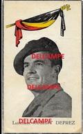 Oorlog Guerre Luitenant Robert Deprez Harelbeke S.A.S Belgian Troops GESNEUVELD Hansweert Nederland 1944 C.A.R.A - Devotieprenten